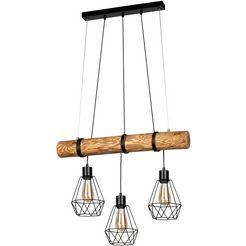 home affaire hanglampen chestingdale van massief grenenhout, kap van metaal, bijpassende lm e27-exclusief, natuurproduct met fsc-certificaat, made in europe zwart