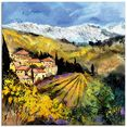 artland print op glas zomer in de provence (1 stuk) geel