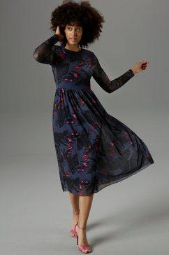 aniston selected midi-jurk van mesh - nieuwe collectie