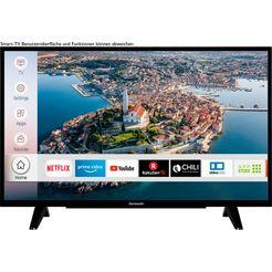 "hanseatic led-tv 39h510hds, 98 cm - 39 "", hd ready, smart-tv zwart"