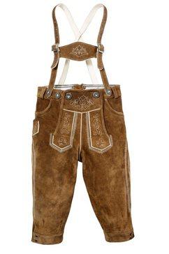 leren broek voor kinderen in knickerbocker-stijl, marjo bruin