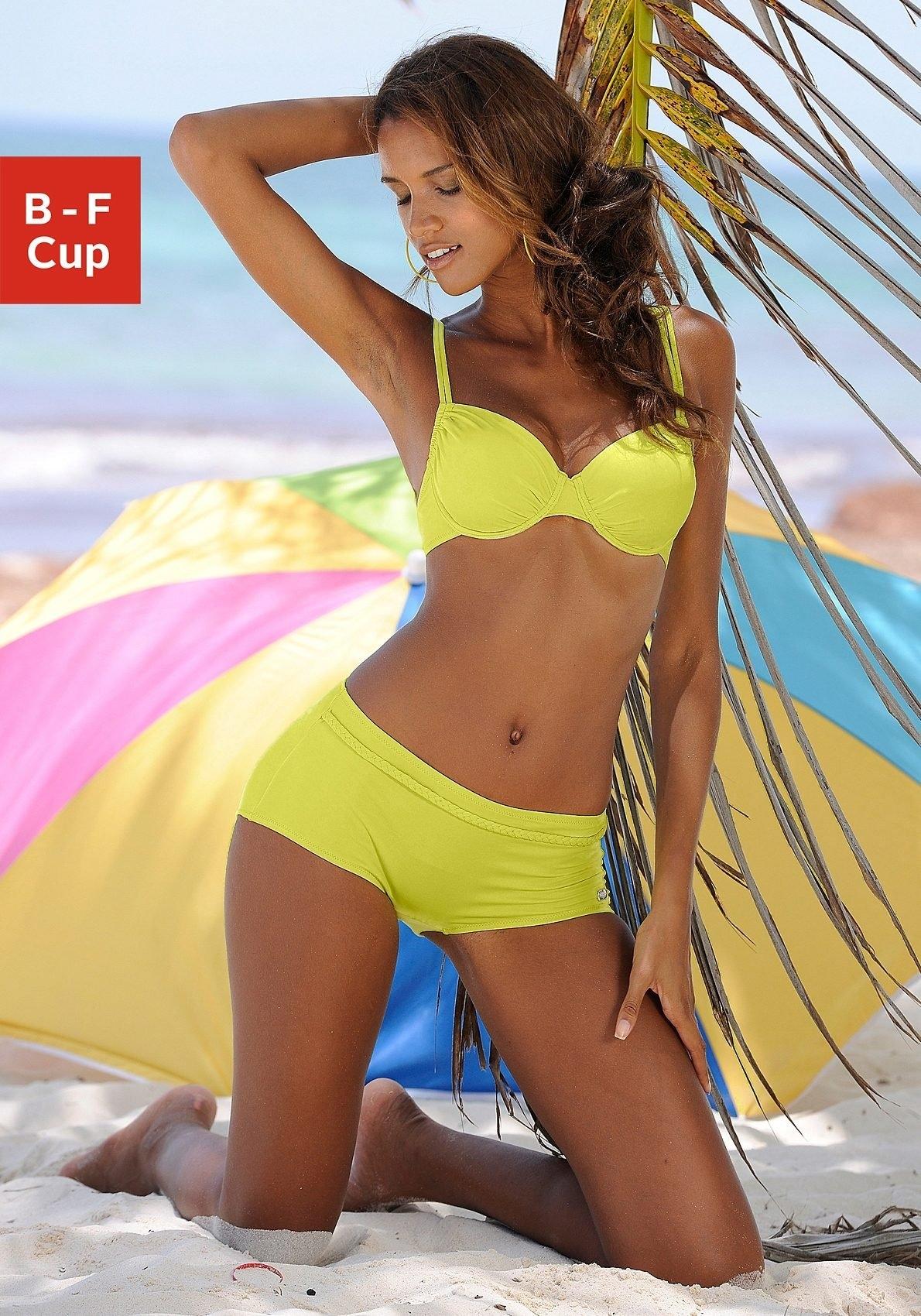 Buffalo bikinitop met beugels Happy opzij aan te rimpelen in de webshop van OTTO kopen