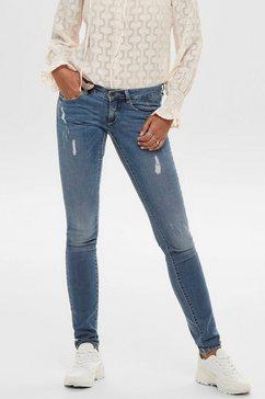 only skinny fit jeans onlcoral life met kleine destroyed-effecten blauw
