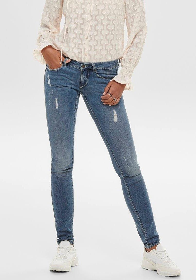 Only skinny fit jeans ONLCORAL LIFE met kleine destroyed-effecten - gratis ruilen op otto.nl