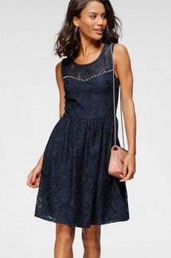 melrose kanten jurk met sierkraaltjes - nieuwe collectie blauw