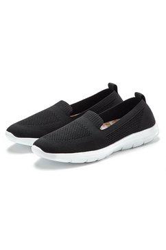 lascana instappers ultralichte sneakers met zachte uitneembare verwisselbare binnenzool zwart