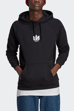adidas originals hoodie »adicolor 3d trefoil graphic« zwart