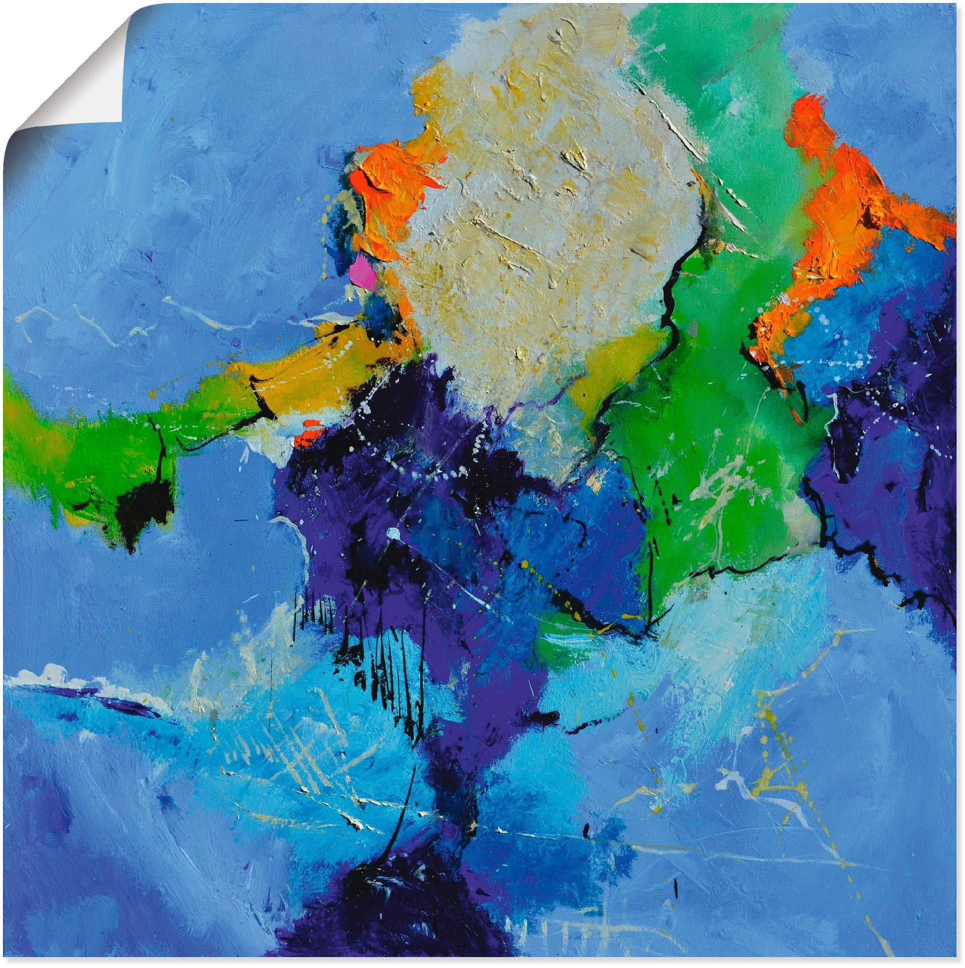 Artland artprint Abstract blauw in vele afmetingen & productsoorten - artprint van aluminium / artprint voor buiten, artprint op linnen, poster, muursticker / wandfolie ook geschikt voor de badkamer (1 stuk) voordelig en veilig online kopen