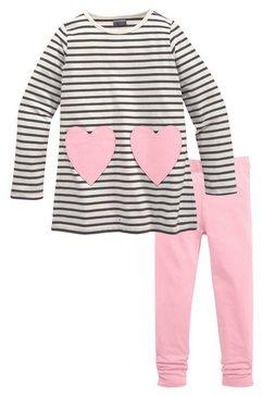 kidsworld lang shirt  legging met zakken in hartmodel (set) multicolor