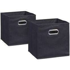 zeller present opbergbox zwart