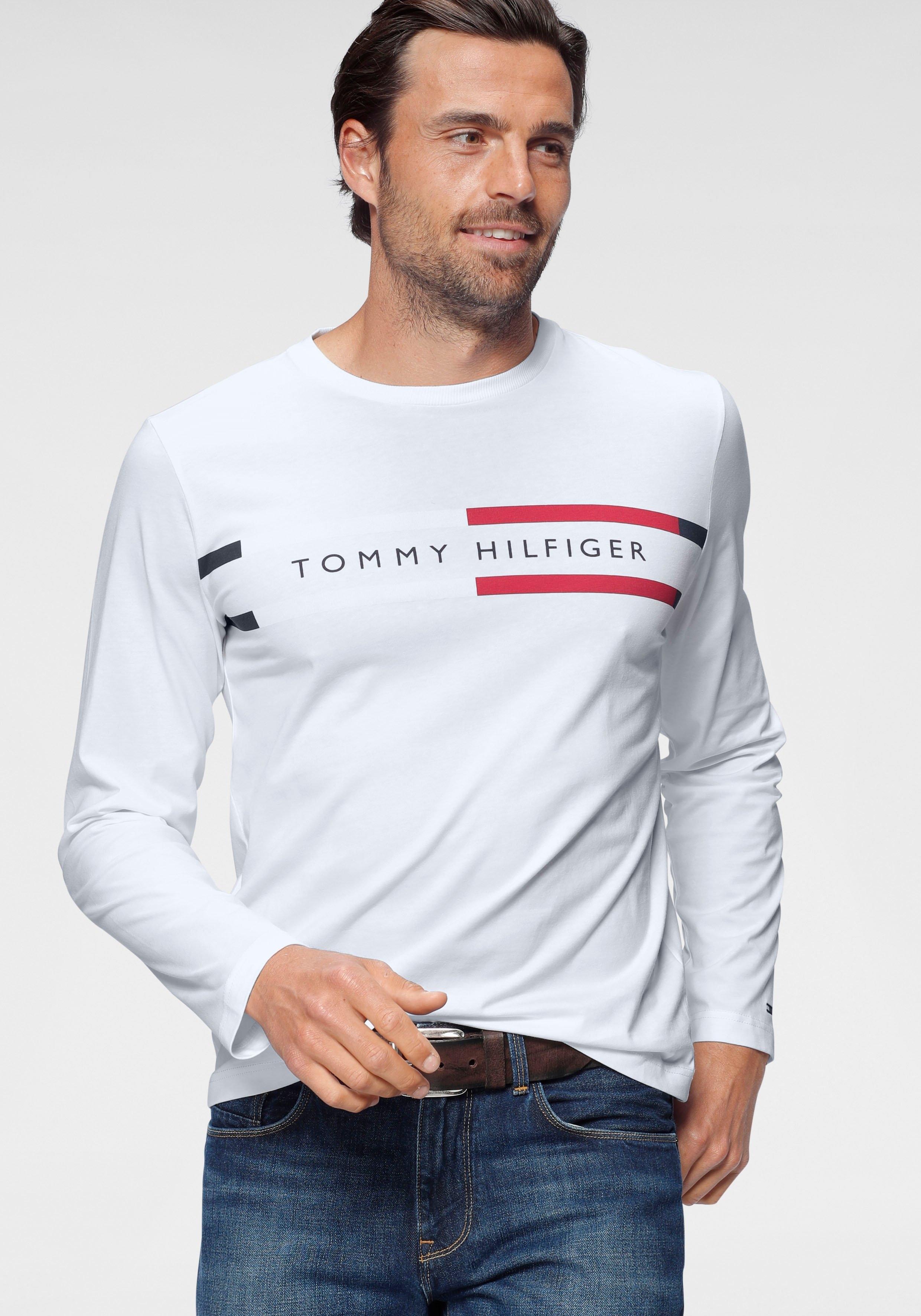 TOMMY HILFIGER shirt met lange mouwen »CORP CHEST STRIPE LS TEE« - verschillende betaalmethodes