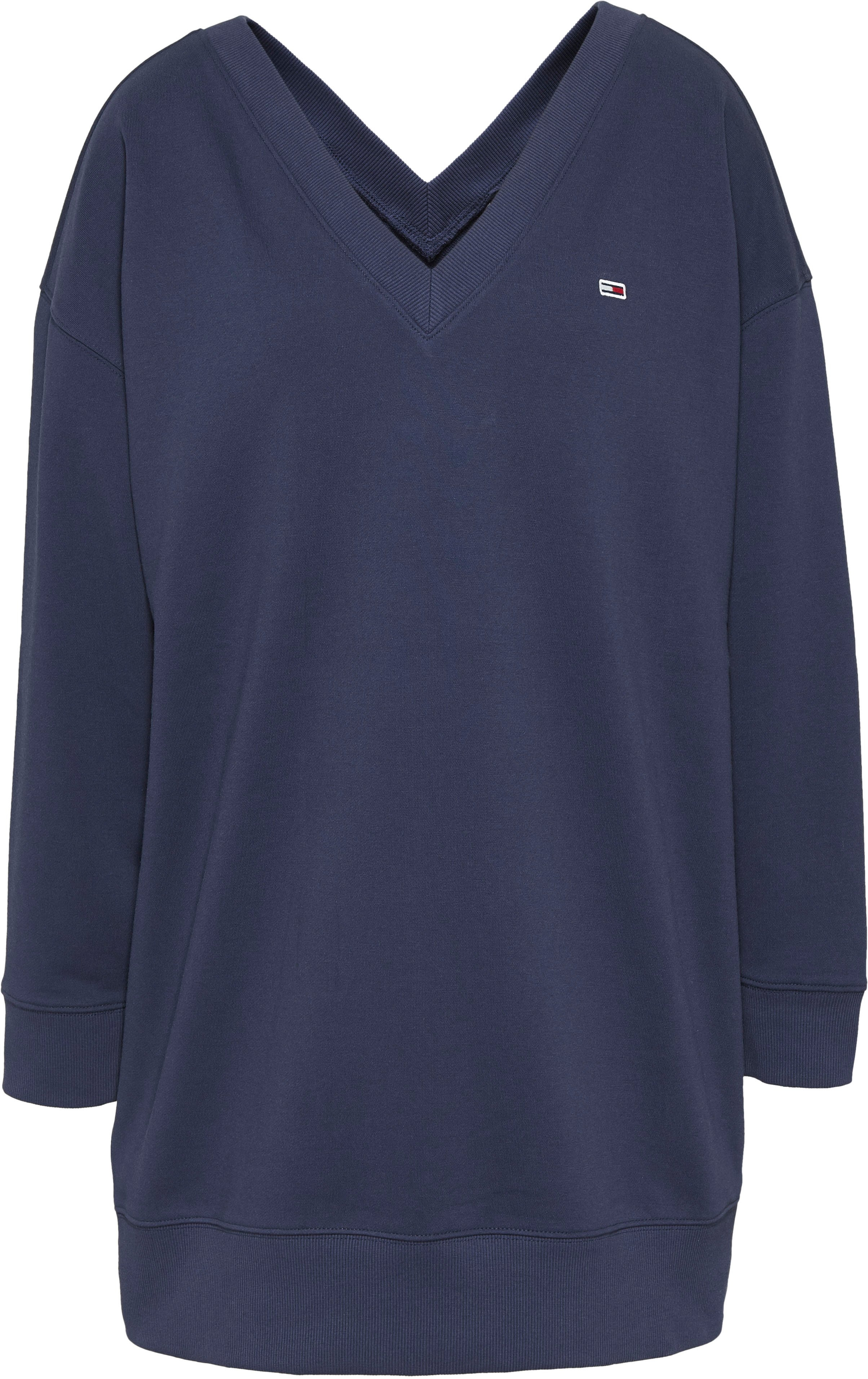 TOMMY JEANS sweatjurk »TJW V-NECK SWEAT DRESS« in de webshop van OTTO kopen