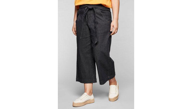 Sheego stretch jeans met highwaist-band en bindceintuur