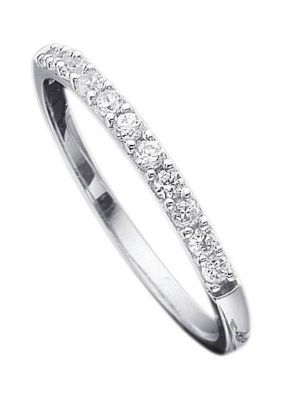 Firetti verlovingsring Stapelring, witgoud, 2,5 mm breed met diamanten in de webshop van OTTO kopen