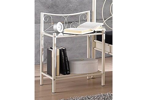 Home affaire nachtkastje Princess mooi metalen frame, met bijzonder mooie romantische versieringen bestellen: 30 dagen bedenktijd