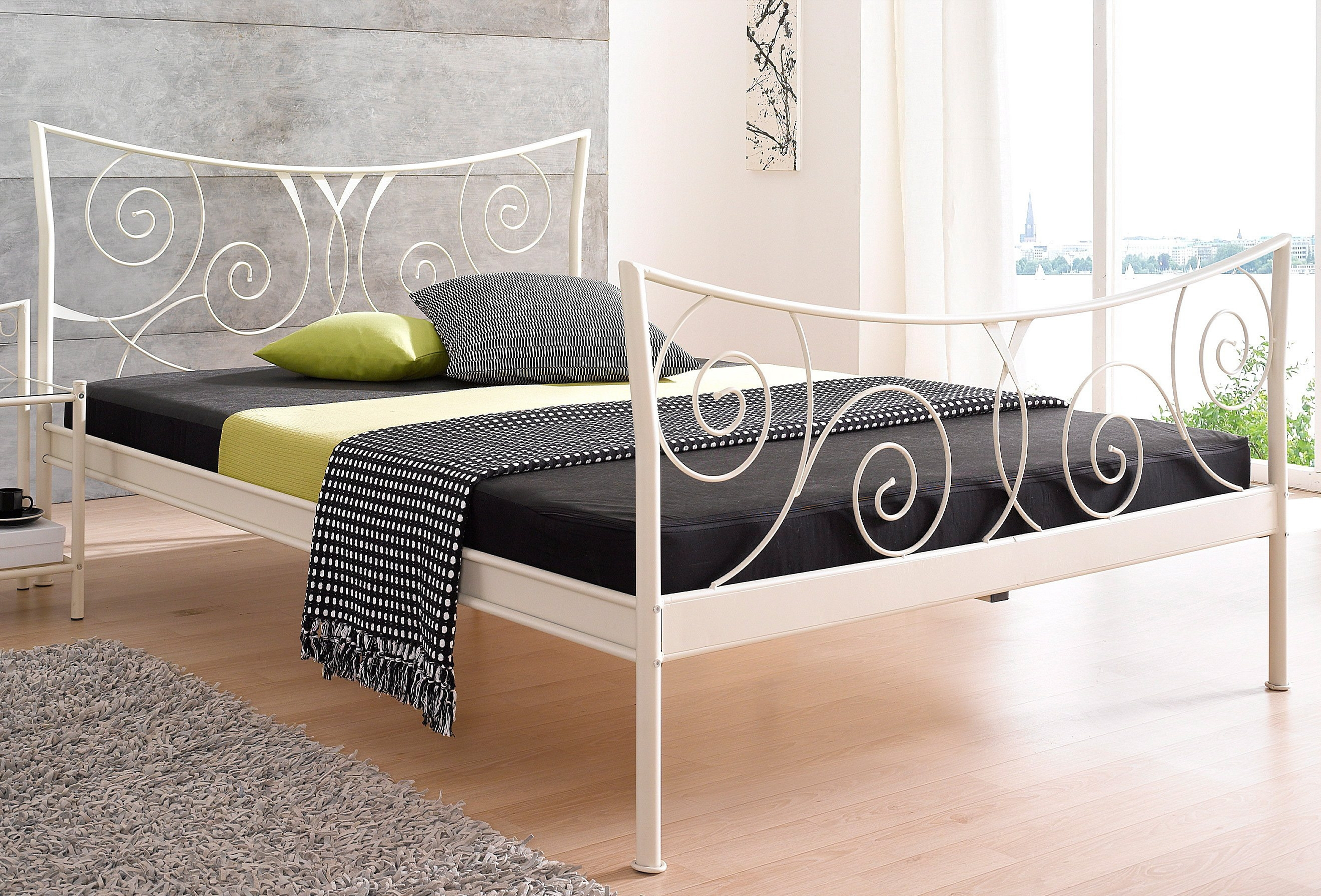 metalen bed online bij otto. Black Bedroom Furniture Sets. Home Design Ideas
