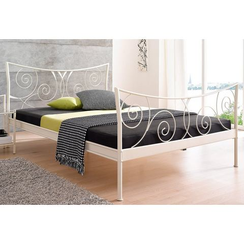Metalen Bed cremewit wit Home Affaire 608834