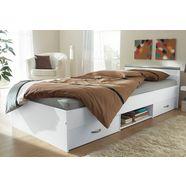 parisot bed met bergruimte wit