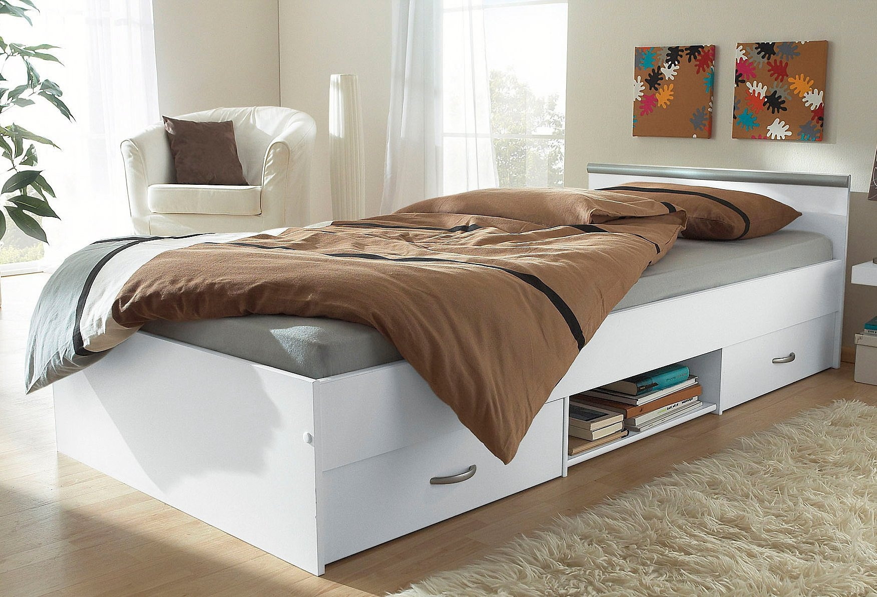 Tweepersoonsbed Met Opbergruimte 140x200.Parisot Bed Met Bergruimte In De Online Winkel Otto