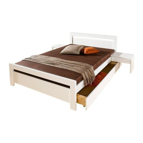 HOME AFFAIRE Bed van grenenhout wit wit 452314
