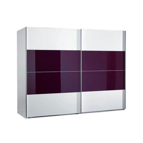 Kledingkasten Zweefdeurkast met glas 536191
