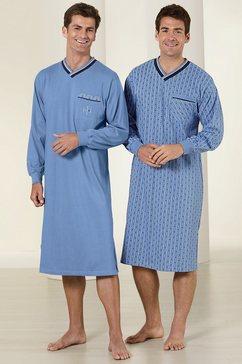 nachthemd, driesen, set van 2 blauw