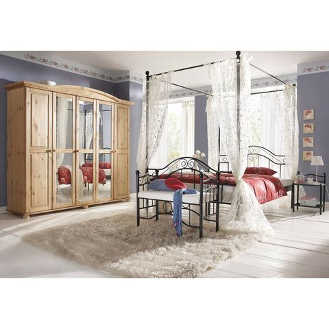 Metalen Bed ligoppervlakteak 140x200 cm zwart Home Affaire 834320