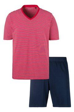 schiesser shortama gestreept shirt rood