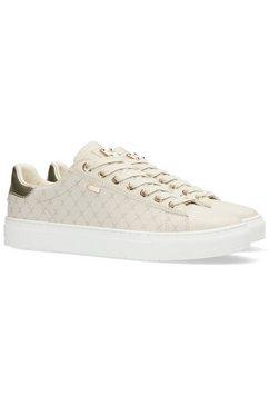 mexx sneakers crista met metallic-inzet bij de hiel beige
