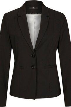 s.oliver black label korte blazer in klassiek model met reverskraag en taillenaden zwart
