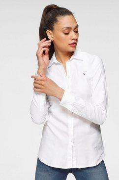 tommy hilfiger overhemdblouse heritage regular fit shirt in hoogwaardige oxford-kwaliteit met tommy hilfiger-merklabel wit