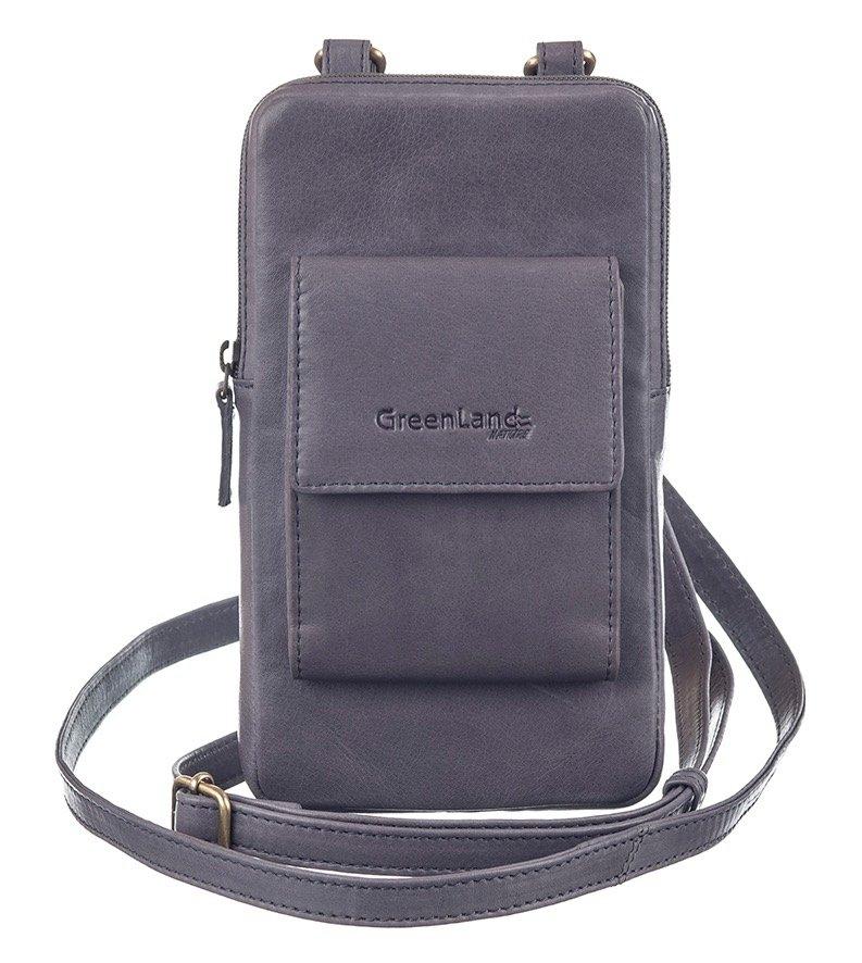 GreenLand Nature mini-bag NATURE Soft met opgestikte portemonnee voor pasjes en rfid-bescherming - verschillende betaalmethodes