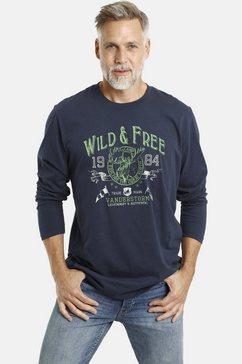 jan vanderstorm shirt met lange mouwen staaf lichte katoenkwaliteit blauw
