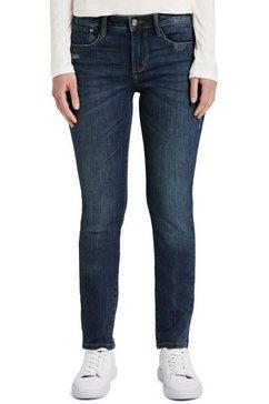 tom tailor straight jeans alexa met lichte used-effecten blauw
