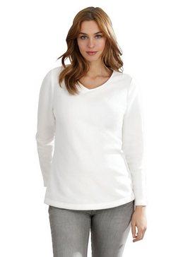 classic basics fleece-shirt wit