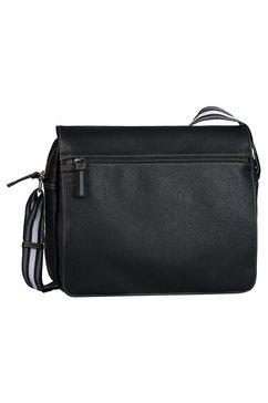 tom tailor messengerbag »warren« zwart