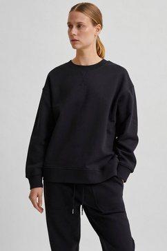 selected femme sweatshirt gemaakt van katoen zwart