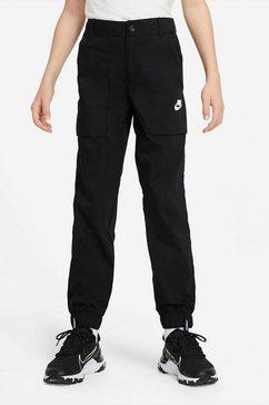 nike cargobroek »nike sportswear woven big kids' (boys') cargo pants« zwart