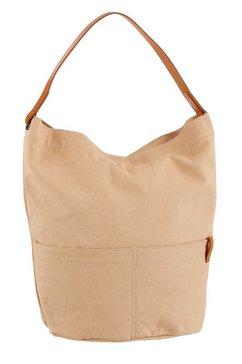 esprit hobo-tas met een draagriem van leer beige