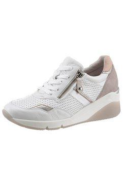 gabor sneakers met sleehak »athen« wit