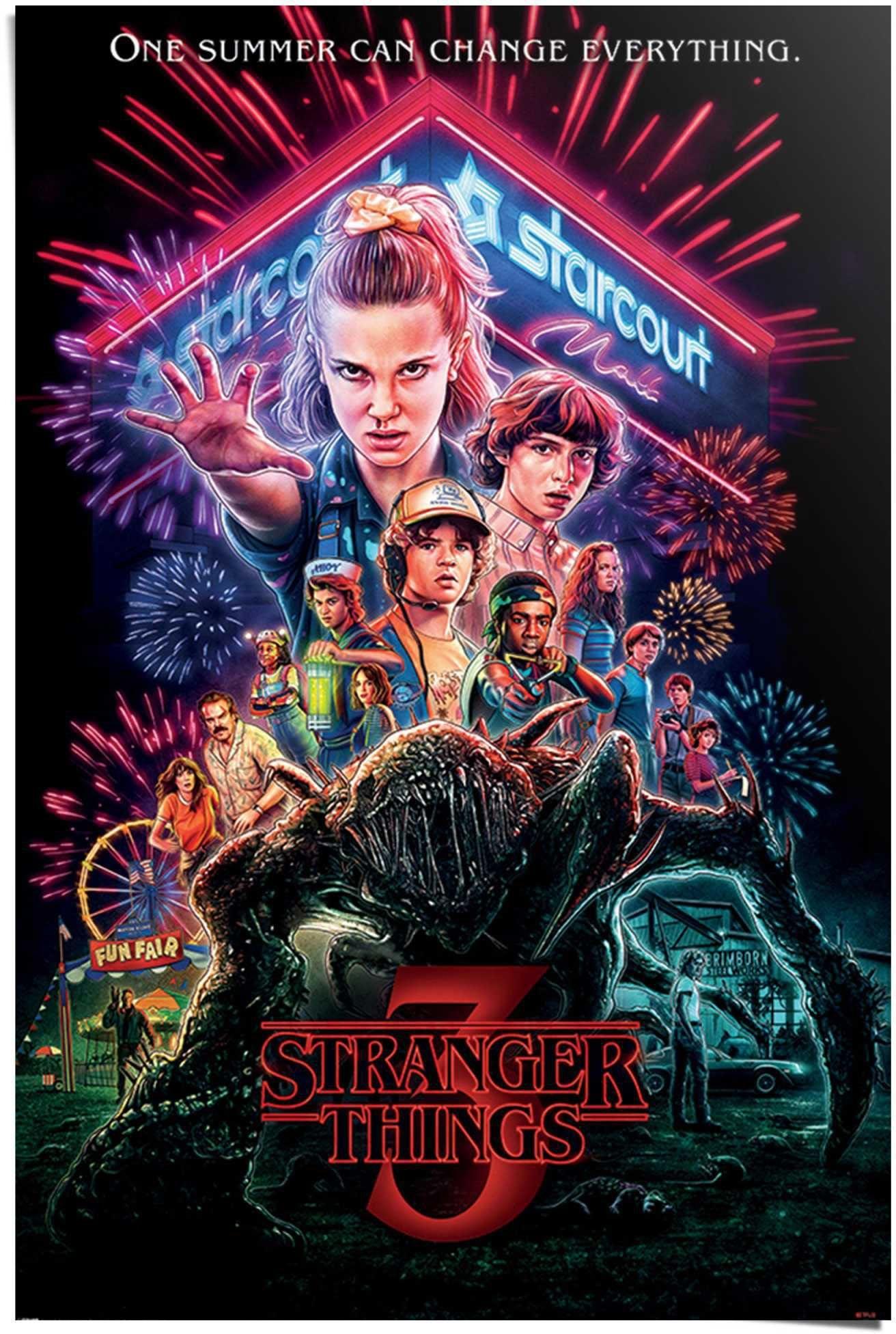 Reinders! poster Stranger Things Summer of 85 - Netflix - Mike - Eleven (1 stuk) veilig op otto.nl kopen