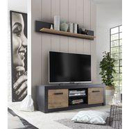my home tv-meubel bruegge met een decoratieve frame-look grijs