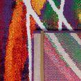 paco home vloerkleed canvas 902 zeer robuust, vuilwerend, woonkamer multicolor