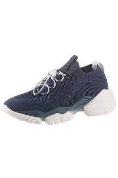 marc o'polo sneakers met sleehak blauw