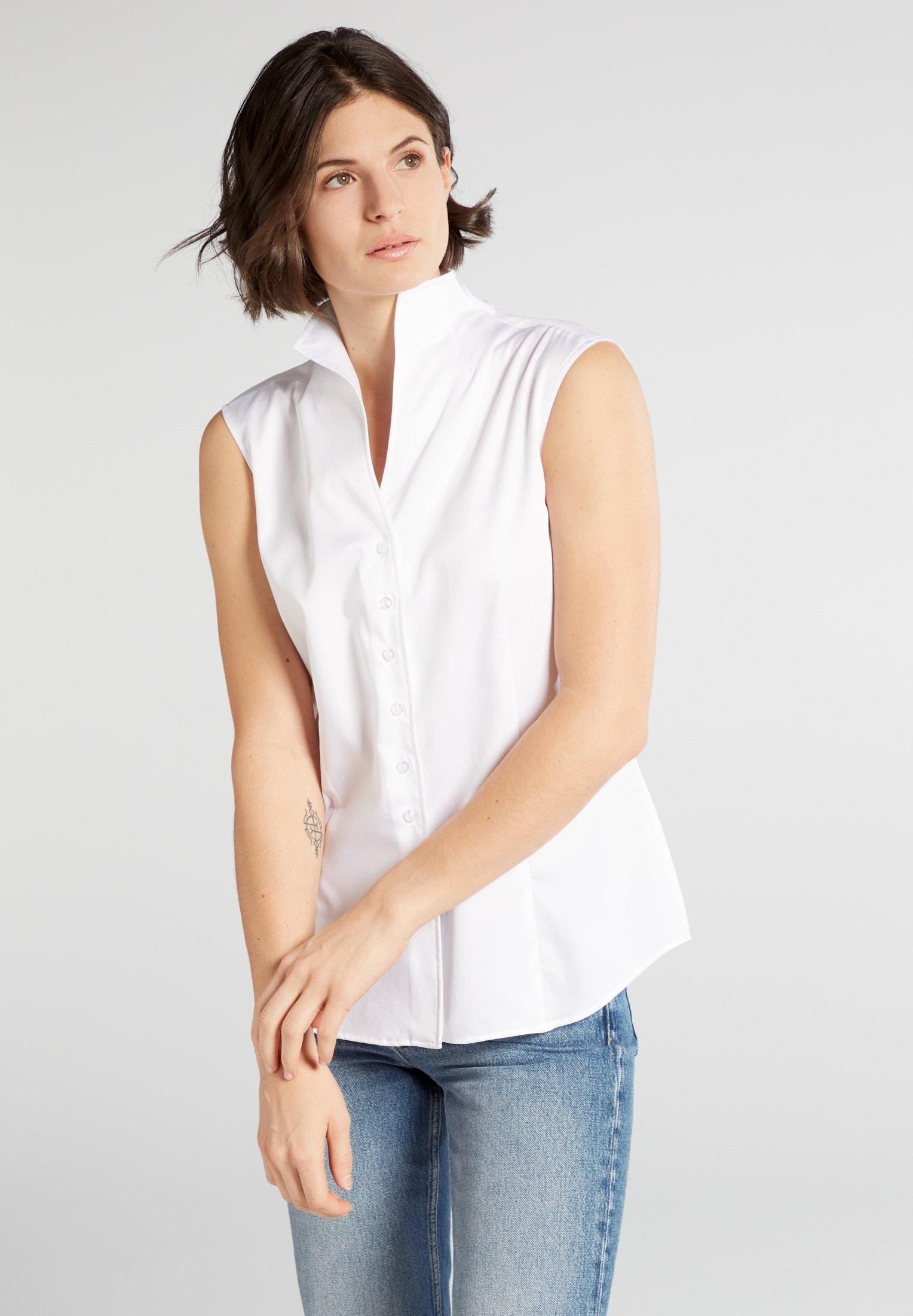 Eterna satijnen blouse MODERN CLASSIC mouwloze blouse online kopen op otto.nl