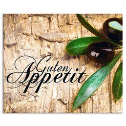 artland keukenwand oliven guten appetit (1-delig) bruin