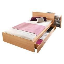 breckle futonbed met uittrekbare rekken in het hoofdbord beige