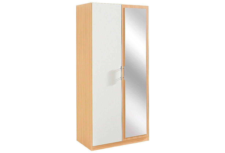 Wimex garderobekast, 2-deurs met spiegeldeur