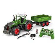 carson rc-tractor tractor met aanhanger, 1:16, rtr groen