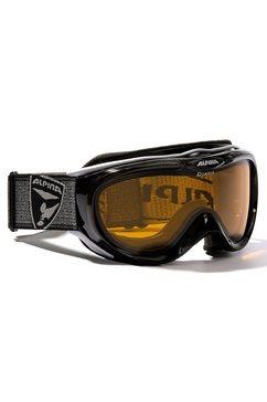 alpina skibril freespirit zwart met hybride-glazen zwart